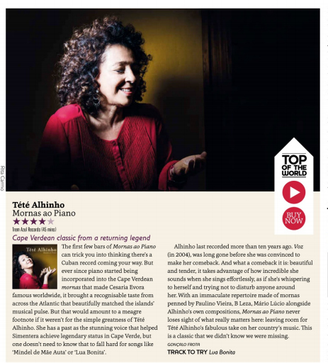 Songlines review, Tété Alhinho - Mornas ao Piano