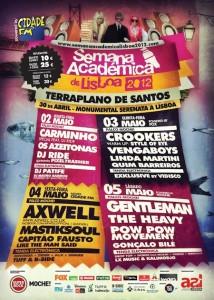 Semana Académica Lisboa 2012 cartaz